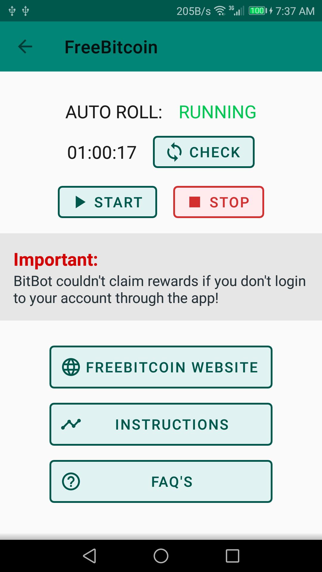BitBot: FreeBitcoin Auto Roll Bot